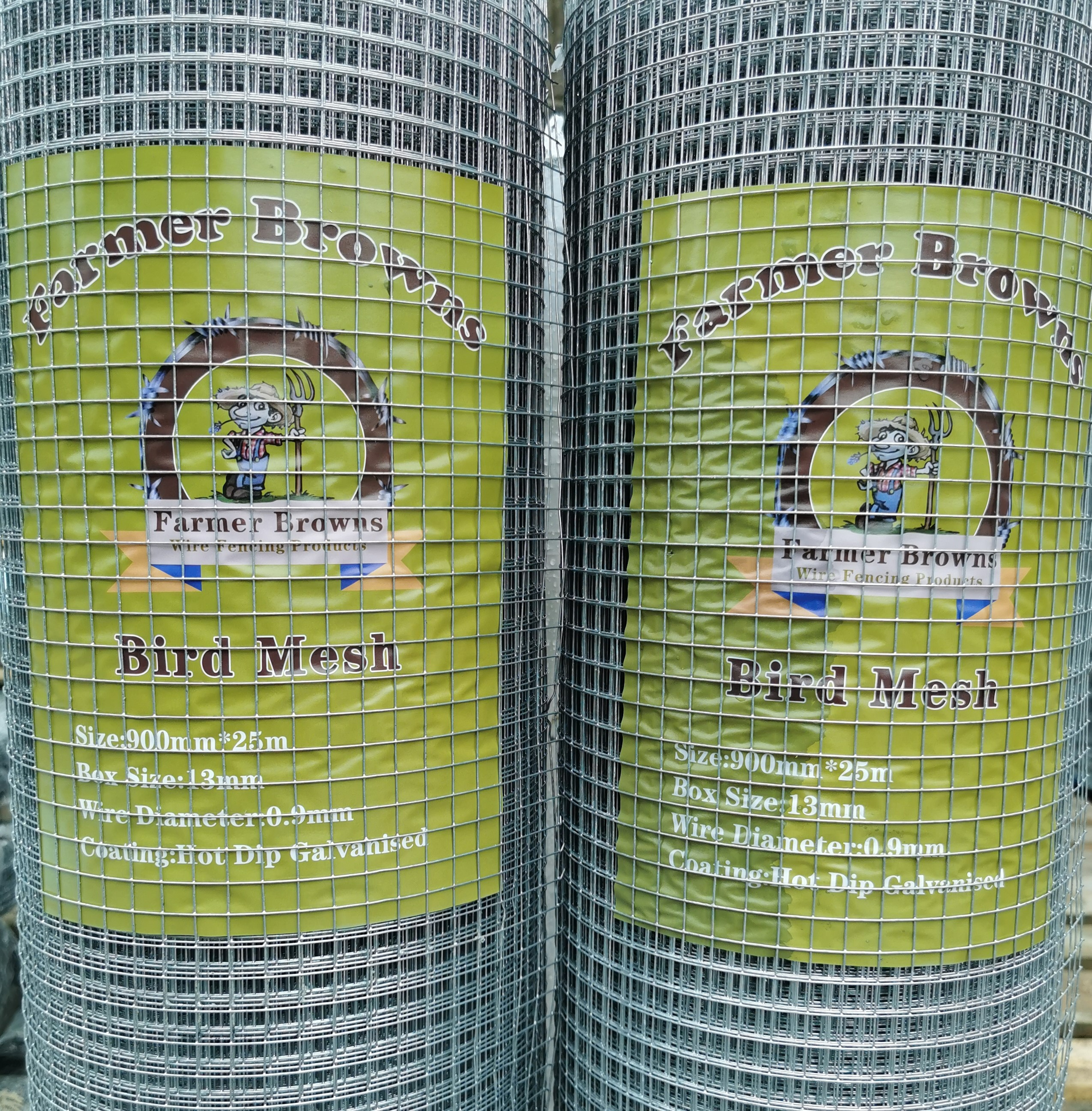 Bird Mesh 900mm x 25m Roll Box Size 13mm Hole