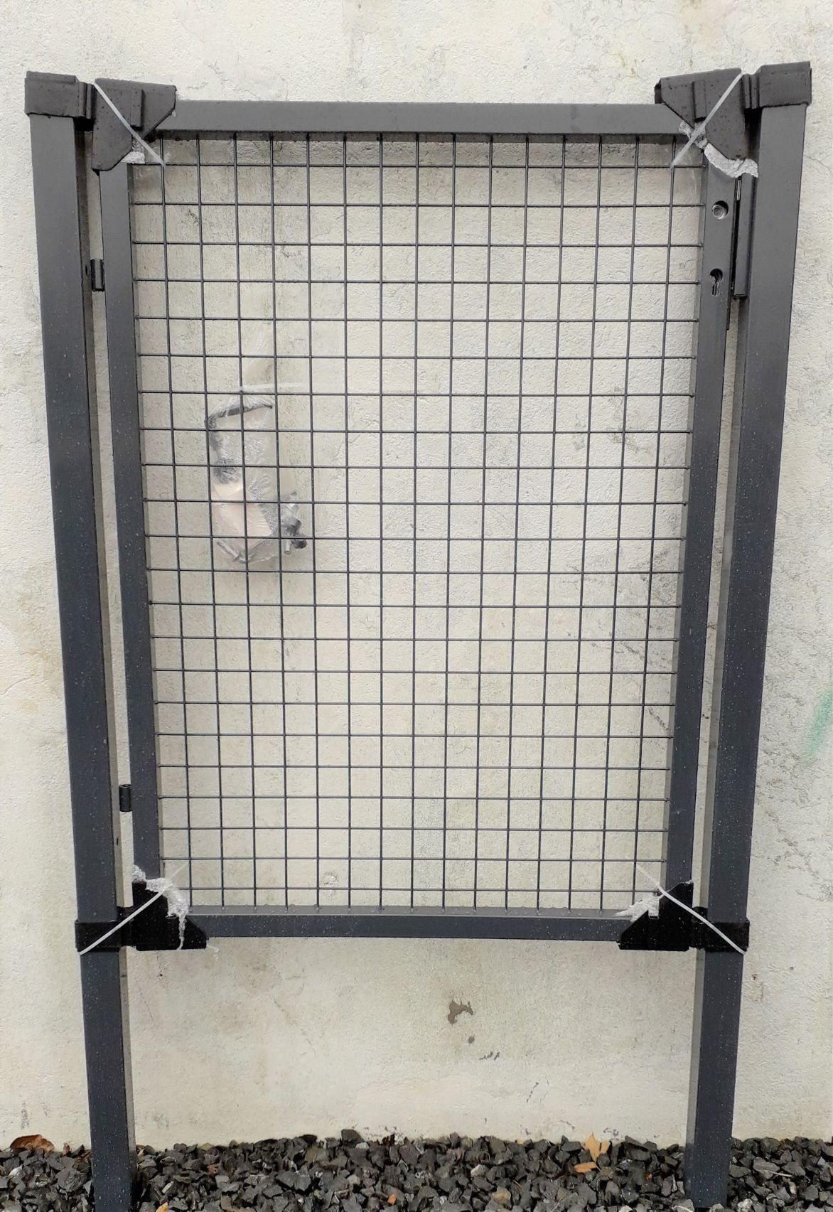 1000mm x 1700mm Residential Gate Kit. GREY Square Frame
